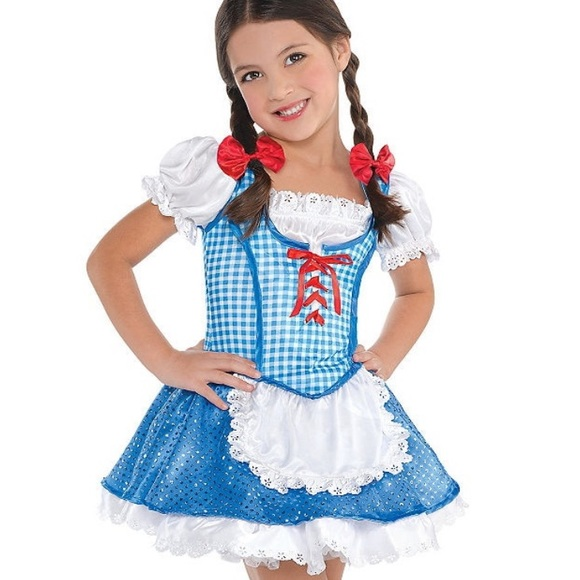 THE WIZARD OF OZ DOROTHY CHILD HALLOWEEN COSTUME GIRLS SIZE MEDIUM 8-10